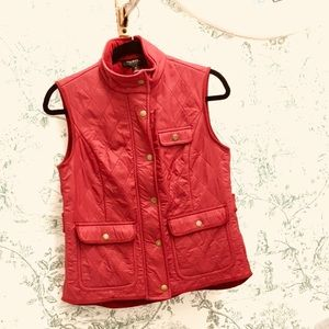 Talbots Red Lightweight Vest